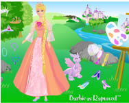 Barbie as rapunzel fodr�szos j�t�kok