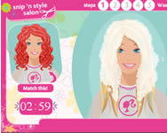 Barbie Snip style salon j�t�k