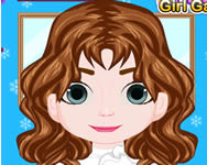 Frozen Baby Anna haircut injury fodr�szos j�t�kok